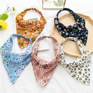 2021 Floral Print Scrunchies Hair Scarf Headband Elastic Hair Band Cute Turban Headwrap Headbands Women Hair Accessories New