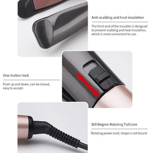 Cross-Border New Arrival Electric Automatic Spiral Hair Curler Two-in-One Twist Hair Straightener and Curler Wave Splint for Curling Or Stra