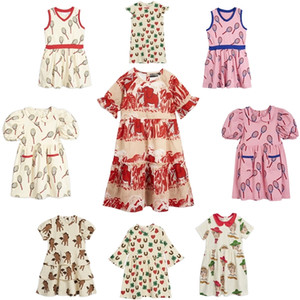 Kids Dress Spring Summer MR StRafina Girls Dress Tennis Racket Baby Princess Party Dress Children Clothes Vestidos 210303