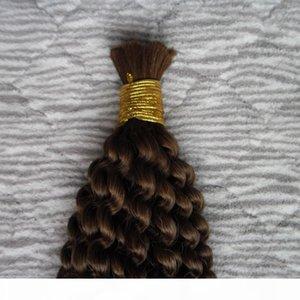 Unprocessed Mongolian Kinky Curly Bulk Hair 100g 1PCS human hair for braiding bulk no attachment 100% Human Crochet Braids Hair Bulk No Weft