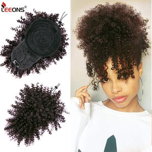 Leeons New Bangs rizado cordón 11color Kinky Curly Hair Bangs Synthety Hair Extensions Clip en las enchufes delanteros ajustables