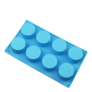 Silicone Pudding Mold Cake Pastry Baking Round Jelly Gummy Soap Mini Muffin Mousse Cake Decoration Tools Bread Biscuit Mould WWA145