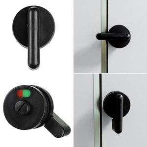 Handles & Pulls Hardware Parts Indicator Buckle Partition Public Toilet Handle Lock Black Door