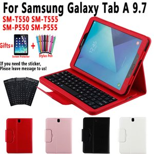 Keyboard Case for Samsung Galaxy Tab A 9.7 T550 T555 P550 P555 SM-T550 SM-T555 SM-P550 Cover Funda Leather Shell+Keyboard+Film