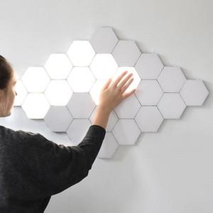 BRELONG LED QUANTUM Altıgen Duvar Lambası Modüler Dokunmatik Sensör Işık Fikstürü Akıllı Işık DIY Yaratıcı Geometrik Montaj
