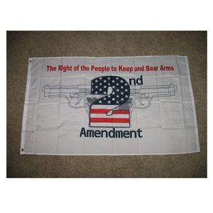 Patriotisch Nicht treten auf meine Rechte USA 2. Änderungsantrag 3 x 5 Fuß Flagge Pistole Rechte Outdoor oder Indoor Club drucken Banner und Flaggen Großhandel