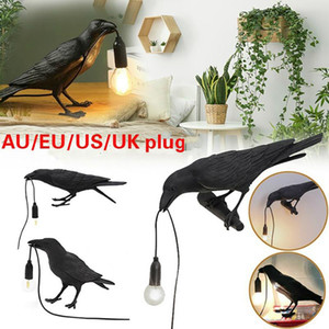 Bird Table Lamp Italian Seletti Bird Lamp Modern Resin Crow Desk for Living Room Bedroom Light Wall Sconce Home Art