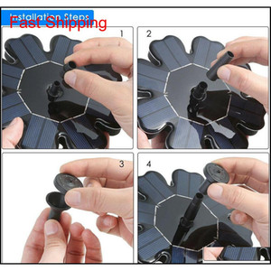 Solar Panel Powered Brushless Water Pump Yard Garden Decor Pool Outdoor Games Round Petal Floating Fountain Water Pu qylgTu homes2007