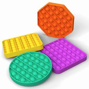 500pcs Push Pop Fidget Toy Among us Bubble Sensory Autism Special Needs Stress Reliever It Squeeze Sensory Toy for Kids Family L006