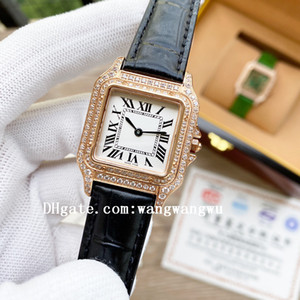 2021 Hohe qualität klassische panthère de damenuhren volle diamant santos quarz armbanduhren cheetah panzer rose gold damen watch d5018