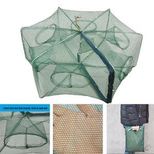 Hot Automatic Fishing Net Pieghevole Pieghevole Pesca Net Shrimp Cage Nylon Pieghevole Pesce Pesce Trappola Cast Mesh DO2