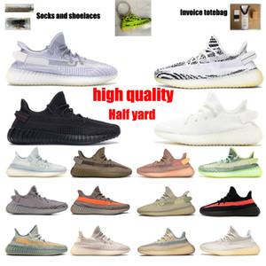 Kanye West 3M Zapatillas de correr reflectantes para hombre para mujer Cincillo Caebra Luz de cola Reflectante IsraFil Estado MUJER MUJER SPORT SHOEs Tamaño 36-48 con la mitad