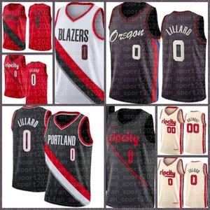 PortlandTrilhaBlazers.Jersey Men's Damian 0 Lillard Carmelo 00 Anthony Gary Derrick Trent Jr. Jones Jr. Basquete 2021 NE