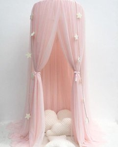 Crib Netting Children's Room Ceiling Dome Bed Net Play Tent Ins Style Explosion Models Dream Crown Curtain Yarn Sand