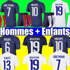 France soccer jersey Euro 2020 2021 football shirt Frankreich Trikot Französisch 100. Geburtstag 100 Jahre Fußball-Trikot der Fußball Weltmeisterschaft MBAPPE Herren + Kinder Kit