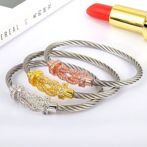 Pulsera de moda Cuerda de alambre de acero de titanio Hebilla magnética de ladrillo de 8 tipos de ladrillo.