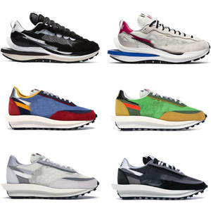 New Release Sacai LDWaffle LDV VaporWaffle Black White Green Blue Red Trainers Men Women Outdoor Shoes Sports Sneakers With Original box