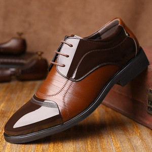 Good Quality Men Leather Shoes Flats Size 38 44 New Fashion Men Dress Shoes Business Formal Oxfords v9Wm#