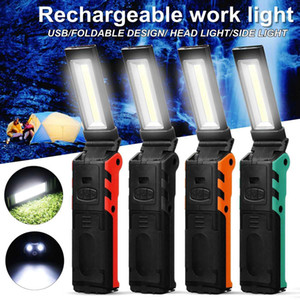 COB Portable Spotlight Work Light LED USB Rechargeable Power Bank 2 Modes Hook Case Magnetic 18650 Battery Waterproof ESEN106