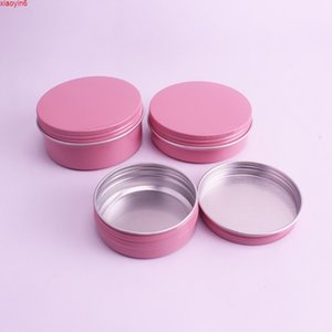50PCS Pink 10g 30g 50g 60g Aluminum Jars Lip Balm Pot Skin Care Cream Eyeshadow Lipgloss Liquid Base Foundation Container Tinshigh qualtity