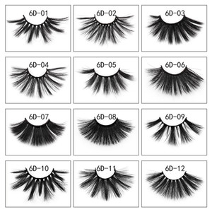 Wholesale 3D Dramatic Thick False Eyelashes 25mm Faux Mink Fake Eyelash Handmade Fluffy Wispy DIY Lashes Extension Eye Makeup Tool 1 Pair