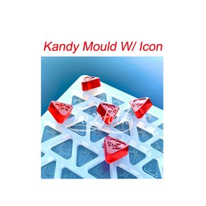 Triangle Kandy Moulding Tools With Icon Edibles Cookies Mould Candy Cake Tooling Gummi Moulds Bakeware Accesories Sillicone Material Transparent Color