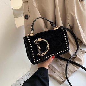 Fashion Letter Shoulder Bags Handbag Rivet Designer Velet Women Crossbody Messager Bag Luxurys Outdoor Travel PU Handbags Trendy Phone Pouch Gifts Xmas