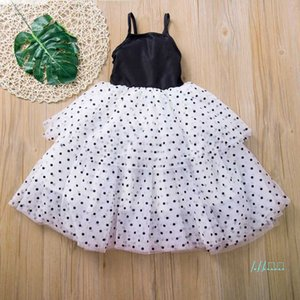 Mädchen Kleider Baby Mesh Gaze Spitze Dot Print Pettiskirt Mädchen Rock Prinzessin Kleid Sommer Party Röcke Ballkleid 80-120 cm cz430
