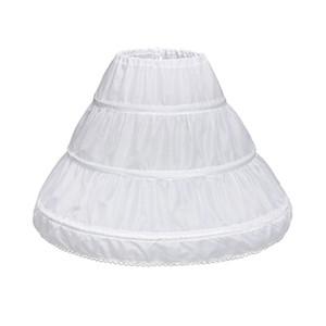 Niños Princesa Falda Petticoat Girls Vestido de novia con las faldas de aro Accesorios Accesorios con cordón ajustable Cintura Lining E15E