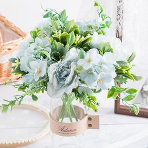 Peony Bouquet Artificial Flowers Silk Rose Christmas Decorations for Home DIY Autumn Decoration Houseplant Photo Props Wedding OWD5260