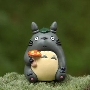 Resin Hayao Miyazaki Totoro Cartoon Figurines Flower Pot Ornaments Fairy Potted Garden Moss Gnome Decoration Miniatures C0220