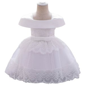 Baby Girls Dress Lace Toddler Clothes Princess 1st Birthday Dress For Baby Girl Formal Dresses Infant Wear Pettiskirt B3812