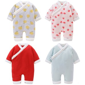 Winter Baby Clothes Cotton Infant Girl Romper Long Sleeve Newborn Boy Jumpsuits Designer Toddler Climbing Clothes Japan Baby Clothing DW4518