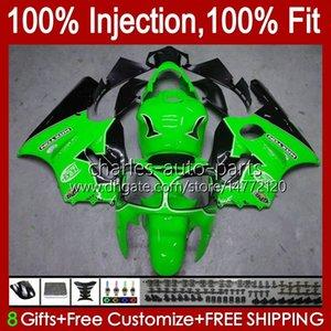 Injection mold OEM For KAWASAKI NINJA ZX 12 R 1200 CC ZX1200C ZX1200 C 2000 2001 Body 2No.137 ZX12R 00 01 ZX 1200 12R 1200CC Bodywork ZX-12R 00-01 ABS Fairing light green