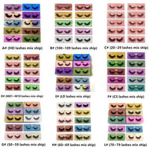 Frete Grátis 3D Mink Eyelashes Atacado 10 estilos 3D Mink Lashes Natural grossa pestanas falsas Maquiagem Falsa cílios extensão a granel