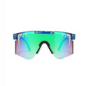 Pit Glasses Sports Double Wide Men and Women Fashion Dazzling Personality Polarized Sunglasses Box