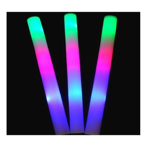 Other Event Festive Party Supplies Home & Garden Drop Delivery 2021 Foam Stick Light Up Sticks Halloween Flashing Led Flash Multi Color Blink