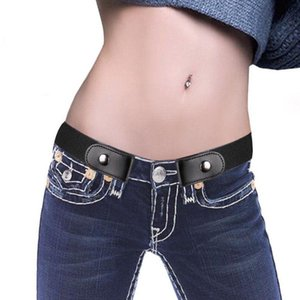 Dropshipping Easy Belt Without Buckle Free Men Belts For Women Female Waist Elastic Stretch Jeans Hidden Invisible Secret 2021