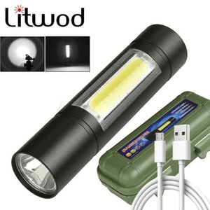 Built in battery XP-G Q5 Zoom Focus 2000 Lumens Mini led Flashlight Torch Lamp Adjustable Penlight Waterproof For Outdoor Z50 210608