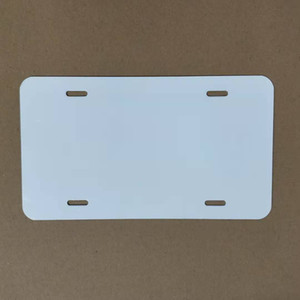 Placa de aluminio de sublimación de aluminio en blanco Hoja de aluminio blanco DIY Transferencia térmica Placas de publicidad Logotipo personalizado 15 * 30 cm Sea GWC6062