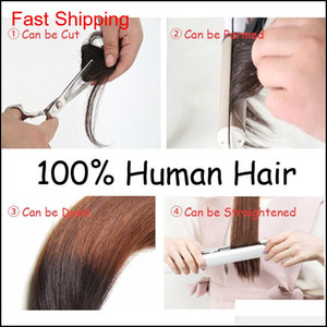 100% reale clip per capelli umani in Bangs clip on Bangs Extension Hand Legato Hair EX Jllpra Xhqhlady