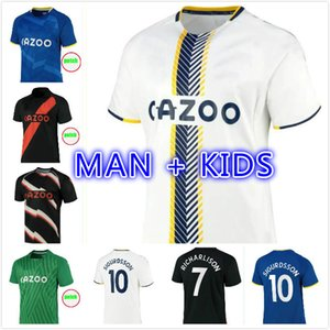 21 22 Calvert-Lewin James Futbol Formaları Richarlison Kean Sigurdsson Futbol Gömlek 2021 2022 Calvert Lewin Walcott Erkekler Kids Kits Üniformaları