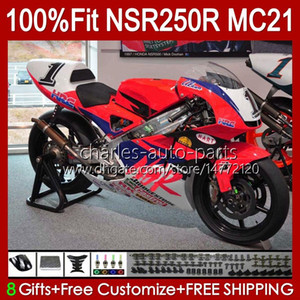 Injection OEM For HONDA NSR250R NSR 250 R MC21 PGM3 103HC.236 NSR 250R glossy red NSR250 1990 1991 1992 1993 NSR250RR 90 91 92 93 Fairing