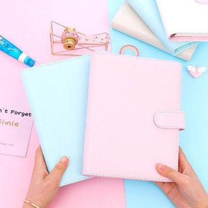 Creative Simple Loose Leaf Leather Notebook A6 A5 Carry Notepad Handbook Office Stationery Leather For Girl Notebook Gift