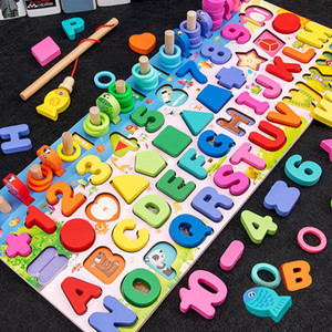 Wooden Montessori Educational Children Early Learning Infant Shape Color number play Board Toy For 3 Year Old Kids Gift