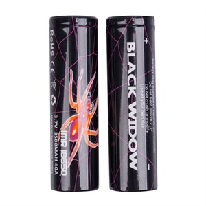 High Quality BLACK WIDOW IMR 18650 Battery 3500mAh 40A 3.7V High Drain IMR18650 Rechargeable Lithium Batteries Cell For Electronic Cigarette Vape Box Mod Top