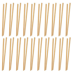 20 Pairs Bamboo Chopsticks Natural Chopstick Simple Tableware for Kitchen