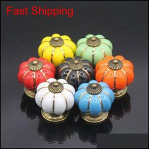 4*4*4 Cm Kitchen Cabinets Knobs Bedroom Cupboard Drawers 7 Colors Ceramic Door Pull Handles With Screws Ipo6S Siv0C