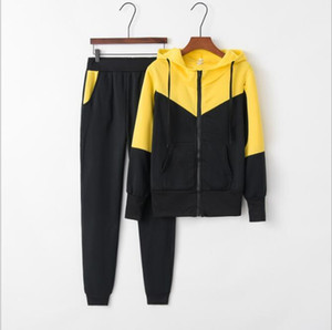 Womens Panelled Slim Fit Athletic Tracksuit Crop Top Long Sleeve Tops and Pants Female Yoga Tracksuits