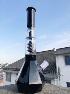 Narguilé bang bang dab plate plate-forme noire bécher tuyau d'eau tabagisme base de tabac phénix avec catcher de glace